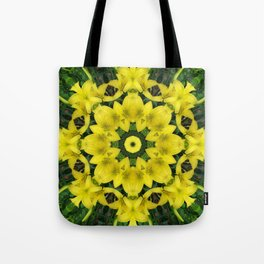 Golden floral crown Tote Bag
