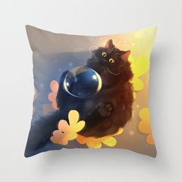 Yellow is fine Throw Pillow