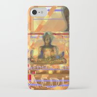 meditation iPhone & iPod Cases featuring Meditation by Paola Canti