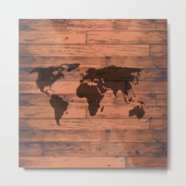 World Map Brand Metal Print