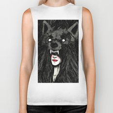 of wolf and men Biker Tank