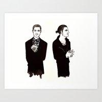 Zayn (ink) Art Print