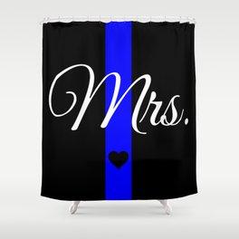 Thin Blue Line Mrs. Pillow Shower Curtain