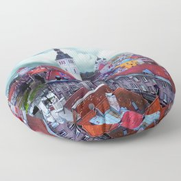 Tallinn art 3 #tallinn #city Floor Pillow