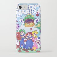 mario bros iPhone & iPod Cases featuring Mario Bros. 2 nostalgia  by Damon Fernandez