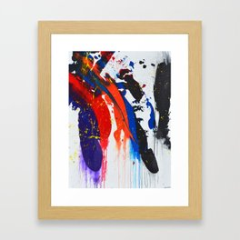 Landslide In Threes Framed Art Print