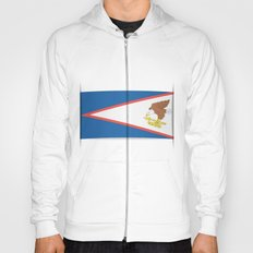 Flag of American Samoa. The slit in the paper with shadows.  Hoody