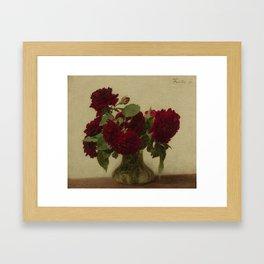 Henri Fantin Latour Roses Foncees Framed Art Print