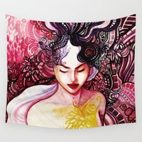 alone Wall Tapestries featuring Alone by Verismaya