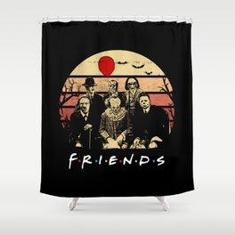 Psychodynamics Horror Characters Friends 2019 Shower Curtain