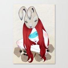 rabbit mask Canvas Print