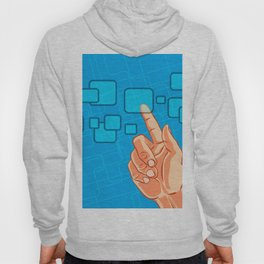 Hand pushing a button Hoody