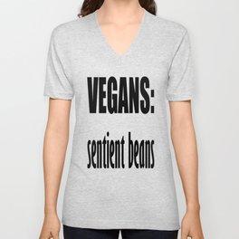 Vegans - Sentient Beans Unisex V-Neck