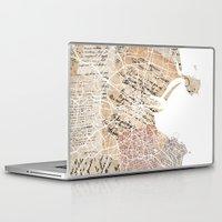 dublin Laptop & iPad Skins featuring Dublin map by Mapsland