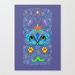 Blue Cat Canvas Print