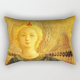 """Fra Angelico (Guido di Pietro) """"Music-making angel, Detail from the Linaioli Tabernacle"""" 6. Rectangular Pillow"""