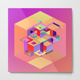Cubic Inversion I Metal Print