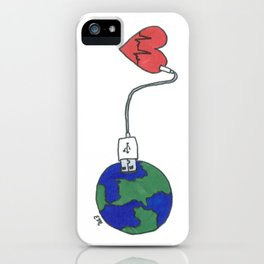 World and Love iPhone Case