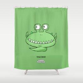 Tickleslug Shower Curtain