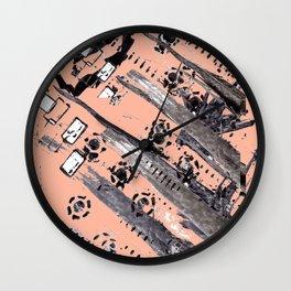 Hand Made Print 4 Wall Clock