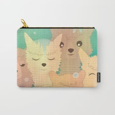 Alpaca Family I - Mint Green Snow Background Carry-All Pouch