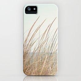 Beach Grass Photography, Calming Coastal Photo Print, Relaxing Beach House Photograph, Seaside Photo iPhone Case