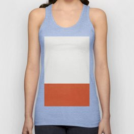 Burnt Orange Color Block Unisex Tank Top