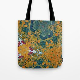 Orange and Green Flora Tote Bag