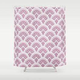 Fan Pattern 431 Dusty Rose Shower Curtain
