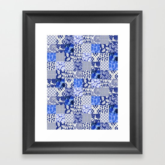 Blue Is Just A Mood Framed Art Print