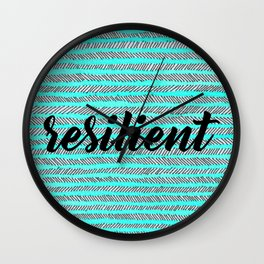 Resilient - Blue Wall Clock