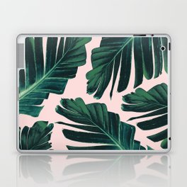 Tropical Blush Banana Leaves Dream #1 #decor #art #society6 Laptop & iPad Skin