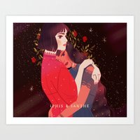 iphis and ianthe Art Print