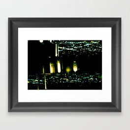 Los Angeles through a pinhole, horizontal Framed Art Print