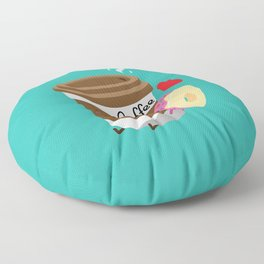 Coffee and Donut Floor Pillow