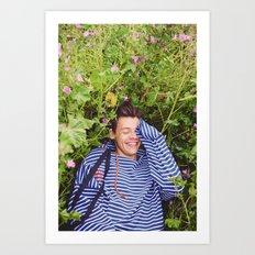 Flower Harry Art Print