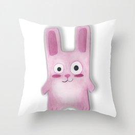 Watercolor Freezer Bunny Throw Pillow
