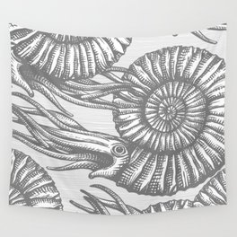AMMONITE COLLECTION GRAY Wall Tapestry