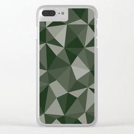 Geometric pyramids V8 Clear iPhone Case