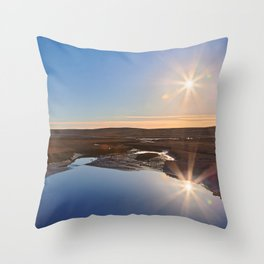 Twin Suns of Point Reyes Throw Pillow