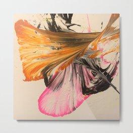 Soar// orange/pink/black/ string art  Metal Print