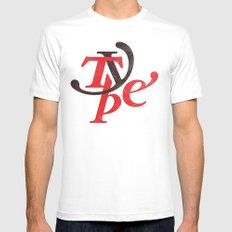 Type White MEDIUM Mens Fitted Tee