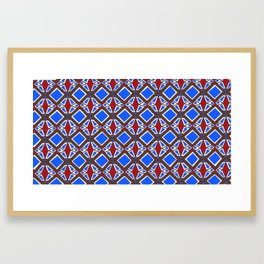Lava Lamp Modern Diamond Face Row Quilt Pattern Framed Art Print