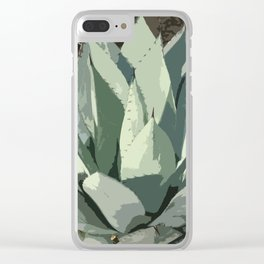 Aloe Vera Abstract Clear iPhone Case