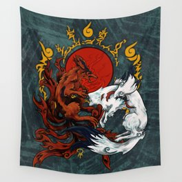 Kurama & Amaterasu Wall Tapestry