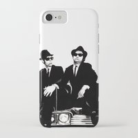 blues brothers iPhone & iPod Cases featuring Blues Brothers by DmDan