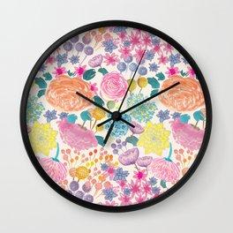 Flowers IIII Wall Clock