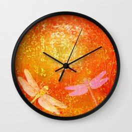 Dragonflies the forgotten clearing Wall Clock