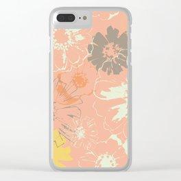 Late Summer Peach Clear iPhone Case
