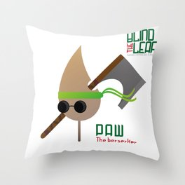 """The Blind Leaf - Paw """"The Berserker"""" Throw Pillow"""